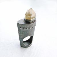 遠藤容子の作品:ルチルクオーツのリング