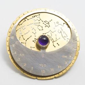 井上 奈緒子の作品:ブローチ<Planisphere/星座早見盤>